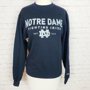 Champion Eco Fleece Notre Dame Pullover Sweater
